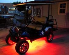 4pc LED RED GOLF CART KART NEON UNDERBODY UNDERGLOW LIGHT 12V CUSTOM WATERPROOF