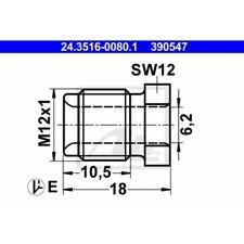10 Überwurfschraube ATE 24.3516-0080.1 passend für BUESSING HANOMAG HENSCHEL