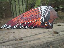 INDIAN MOTORCYCLE CHIEF Metal Display  Harley Scout Vintage Style  MAN CAVE