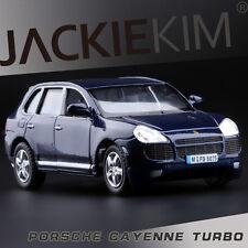 1:38 Scale Deep Blue mini PORSCHE Cayenne Turbo Diecast model PullBack Car 1/38