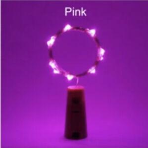5/ 10pc Wine Bottle Fairy String Lights 20 LED Battery Cork For Party Wedding 2M