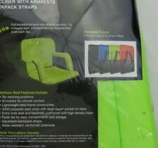 Ventura Seat Lime Backpack Strap Armrests Portable Reclining outdoor Camp Chair