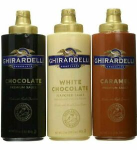 Ghirardelli 3PACK White Chocolate Caramel Premium Sauce Squeeze Bottle Syrup Mix
