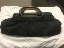 Used[A] Women Bag/Purse Gucci GG Wood Hand hand Black