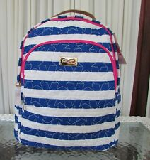 Luv Betsey Johnson Quilted Stars Stripes Large Backpack School Bag Travel NWT