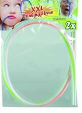 XXL Drinking Straw 70cm Kids Extra Long Drink Fun Party Summer Striped Neon Stag