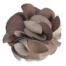 Pince cheveux bibi broche grande fleur gris taupe cérémonie soirée mariage