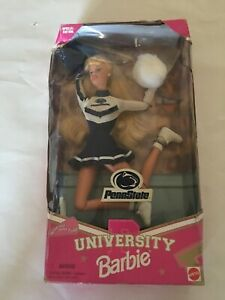 Penn State University Barbie Cheerleader Doll Special Edition Mattel Collector