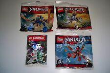 Lego Ninjago, Polybag, 4 Stück, 30422, 30291, 30292, Waffenständer, Jay, Kai**