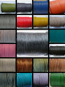 100% Real Genuine Leather Thong Cord 1,1.5,2,3,4,5mm String Lace Thong