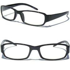 BLACK Frame Smart Glasses NERD TEACHER STUDENT CLEAR LENS Retro Hipster Style