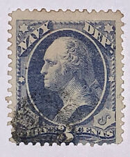 Travelstamps: US  Stamps Scott #O37 3cents, Navy Department, Used, NG