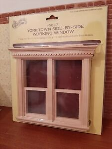 Houseworks Dolls House Wooden Yorktown Side By Side Working Sash Window 1/12th