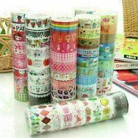 Groß 10 Stücke Meter Papier Klebrige Aufkleber Dekorative Washi Tapes High Y0J7
