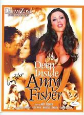 Deep Inside Amy Fisher Autographed Signed Porn Adult Film Promo Photo JSA COA