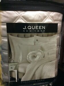 J. Queen New York Satinique  Euro Pillow Sham - ivory 26 x 26