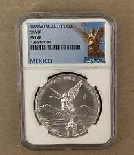 1999-Mo Mexico Silver Libertad 1oz Silver Coin NGC MS 68