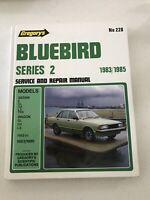 Gregory's No.228 Service and Repair Manual Datsun Bluebird Series 2 1983-1985