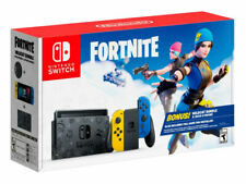 Nintendo Switch HAC-001(-01) Fortnite Wildcat Console Bundle - Yellow/Blue Joy-Con Controllers