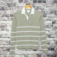BAND OF OUTSIDERS Men's Long Sleeve This is not a Polo Shirt Tan Gray Size 0