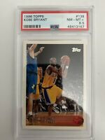 1996 TOPPS # 138 KOBE BRYANT RC ROOKIE CARD PSA 8.5 LA Lakers Black Mamba