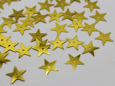 2000 Gold 14mm Flat Star Loose sequins Paillettes Sewing Wedding Craft