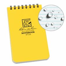 "All-Weather Top-Spiral Notebook, 3"" x 5"", Yellow Cover, Universal Pattern"