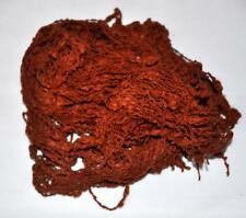 VTG YARN GREAT FOR MAKING DOLLS HAIR,  ROUGH TEXTURE WEAVE, RED AUBURN BROWN