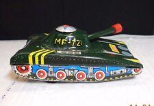 Iob Vintage China Light Tank Army Tin Toy Friction ~ Mf 721