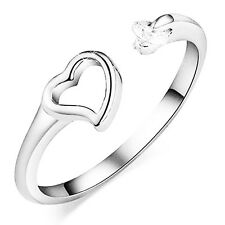1pc Silver Adjustable Fashion Love Heart Wrap Ring / Thumb Simple Design