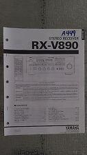 Yamaha rx-v890 service manual original repair book stereo receiver tuner radio