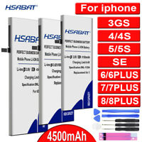HSABAT Battery Apples iPhones 3GS SE 4 4G 4S 5 5G 5S 5C For Replacement Li-Ion