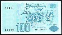 1992 Algeria 100 Dinars Banknote * 00478863292 * aUNC * P-137 *