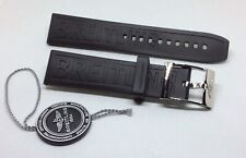 Breitling 22mm Rubber Strap and 20mm Breitling Steel Buckle Brand New Genuine