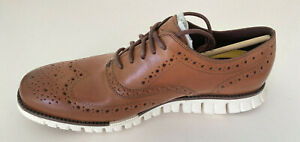 NWB COLE HAAN Men ZEROGRAND Wing Oxford Shoes Sz 10.5M British Tan #C14493