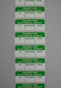 PAT Test /Testing Labels PASSED Strip 100 Mini 40 x 15