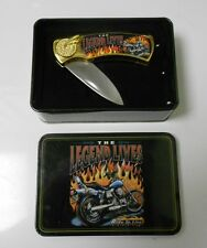 "Rebel Collection Legend Lives 3"" Folding Knife in Collector Tin VF+ Unused"