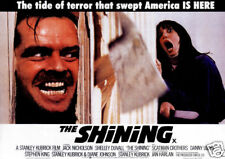 The shining Jack Nicholson cult horror movie poster print