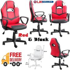 Office Chair Racing Gaming Executive Visitor Home Swivel Chair PU Leather Seat