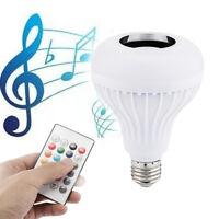 E27 12W Music Playing lamp Wireless Bluetooth LED Light Speaker Bulb RGB Remote