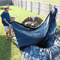 14.6X1.5m Wasserfest Schwerlast PVC Teich Futter & Fischteich Futter