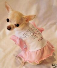 Dog Dress/Dog Clothes/Chihuahua/Hot Girls Ruffle Dress/XS,S,M,L FREE SHIPPING