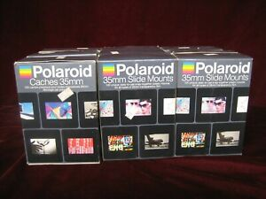 Polaroid Caches Slide Mounts 35mm 9 Boxes 100 in each unopened
