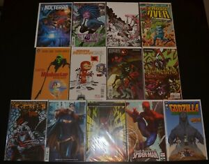 LOT of (13) High Grade Variant Comic Books (Spider-Man, TMNT) Lau 9.6-9.8 (NM+)