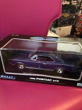 Welly 1966 Pontiac GTO Blue Rare New 1:18
