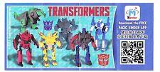Conjunto completo Transformers de china con un folleto