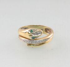 8625062 588er GG Ring Gold Schlange Smaragd Diamant Gr.55
