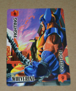 VERY RARE OVERPOWER WOLVERINE: FIGHTING 6 PROMO CARD CCG TCG MARVEL 1995  OP NM