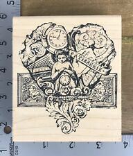 Stampers Anonymous Wood Mounted Rubber Stamp French Vintage Patisserie P1-590