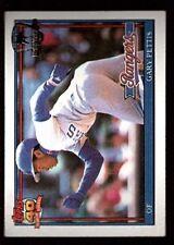 GARY PETTIS #314 RANGERS 91 1991 TOPPS BASEBALL DESERT SHIELD LOGO RARE SP MINT
